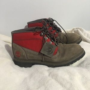 Timberlain above ankle lace up work boots